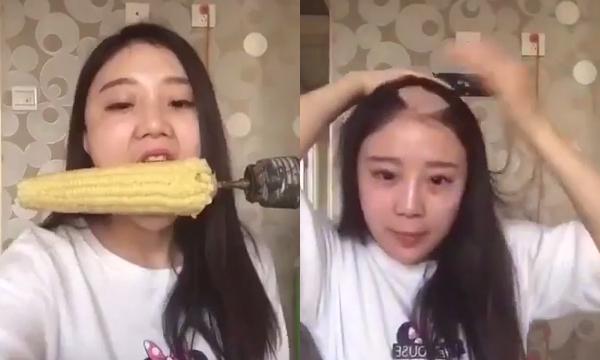 cô gái bị mất mảng tóc do máy khoan