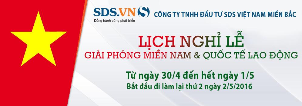 SDS Việt Nam Miền Bắc thông báo lịch nghỉ lễ