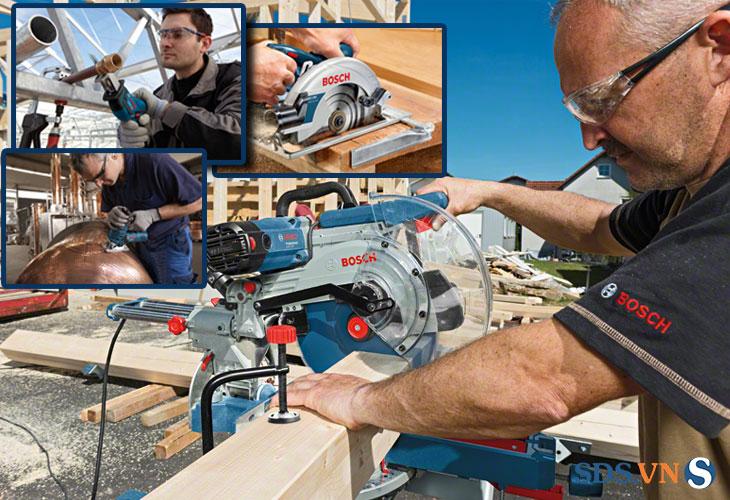 Máy cắt gỗ cầm tay GCM 12 SDE mạnh mẽ và tiện lợi ch đường cắt chính xác